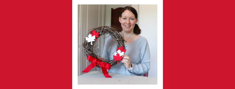 How I Made My DIY Canada Day Wreath